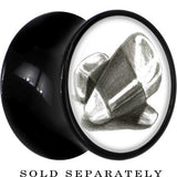 Classic Candy Corn Saddle Plug in Black Acrylic