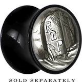 RIP Tombstone Saddle Plug in Black Acrylic