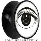 Arty Open Eye Saddle Plug in Black Acrylic