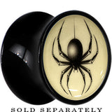 Black Widow Spider Glow in the Dark Saddle Plug in Black Acrylic