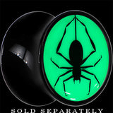 Spinning Spider Glow in the Dark Saddle Plug in Black Acrylic