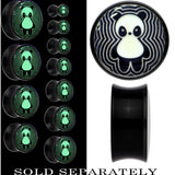 Happy Panda Glow in the Dark Saddle Plug in Black Acrylic