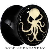 Ominous Octopus Glow in the Dark Saddle Plug in Black Acrylic