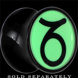 Day and Night Capricorn Glow in the Dark Black Acrylic Plug