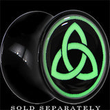 Celtic Trinity Glow in the Dark Saddle Plug in Black Acrylic