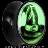 Magic Witch Hat Glow in the Dark Saddle Plug in Black Acrylic