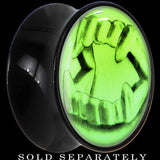 Fearsome Fangs Glow in the Dark Saddle Plug in Black Acrylic
