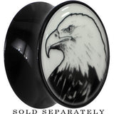 Arty Bald Eagle Glow in the Dark Saddle Plug in Black Acrylic