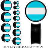 Argentina Flag Black Acrylic Saddle Plug