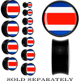 Costa Rica Flag Black Acrylic Saddle Plug