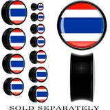 Thailand Flag Black Acrylic Saddle Plug