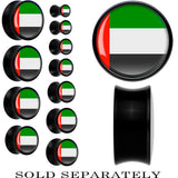 United Arab Emirates Flag Black Acrylic Saddle Plug