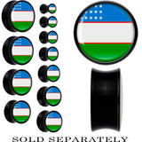 Uzbekistan Flag Black Acrylic Saddle Plug