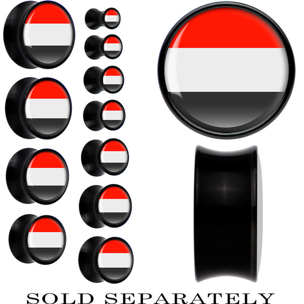 Yemen Flag Black Acrylic Saddle Plug