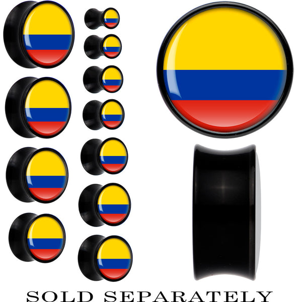 Colombia Flag Black Acrylic Saddle Plug
