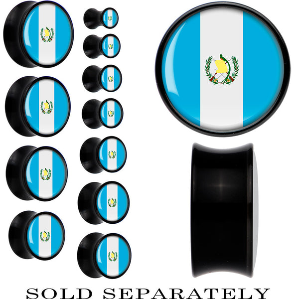 Guatemala Flag Black Acrylic Saddle Plug