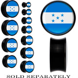 Honduras Flag Black Acrylic Saddle Plug