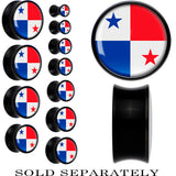 Panama Flag Black Acrylic Saddle Plug