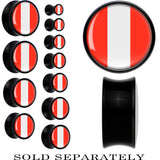 Peru Flag Black Acrylic Saddle Plug