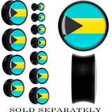 Bahamas Flag Black Acrylic Saddle Plug