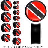 Trindad and Tobago Flag Black Acrylic Saddle Plug