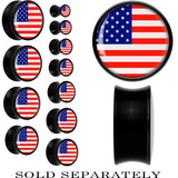 United States Flag Black Acrylic Saddle Plug
