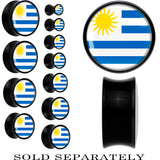 Uruguay Flag Black Acrylic Saddle Plug