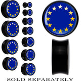 European Union Flag Black Acrylic Saddle Plug