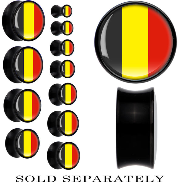Belgium Flag Black Acrylic Saddle Plug