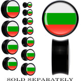 Bulgaria Flag Black Acrylic Saddle Plug
