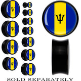 Barbados Flag Black Acrylic Saddle Plug