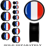 France Flag Black Acrylic Saddle Plug