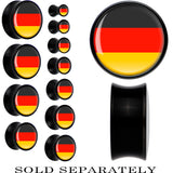 Germany Flag Black Acrylic Saddle Plug