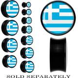 Greece Flag Black Acrylic Saddle Plug