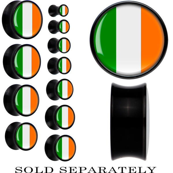 Ireland Flag Black Acrylic Saddle Plug