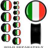 Italy Flag Black Acrylic Saddle Plug