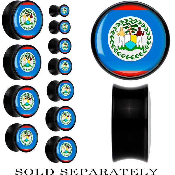 Belize Flag Black Acrylic Saddle Plug