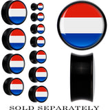 Netherlands Flag Black Acrylic Saddle Plug