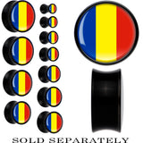 Romania Flag Black Acrylic Saddle Plug