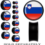 Slovenia Flag Black Acrylic Saddle Plug