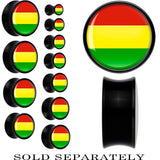 Bolivia Flag Black Acrylic Saddle Plug