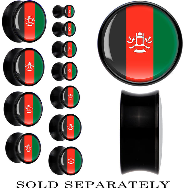 Afghanistan Flag Black Acrylic Saddle Plug