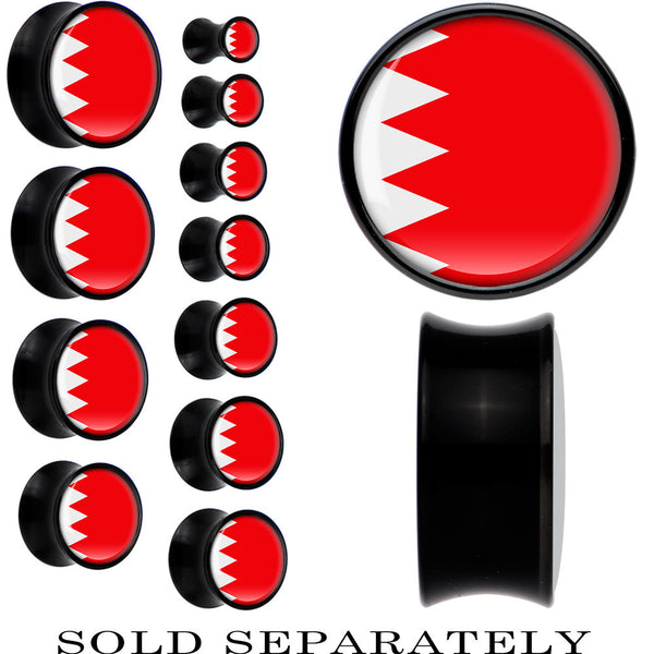 Bahrain Flag Black Acrylic Saddle Plug