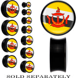 Brunei Flag Black Acrylic Saddle Plug