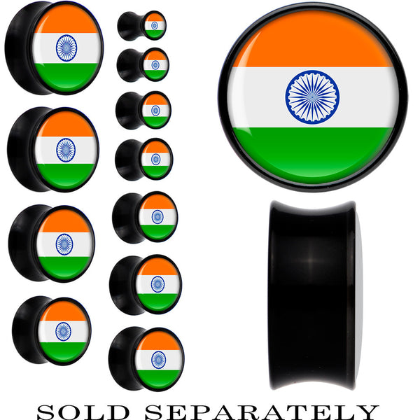 India Flag Black Acrylic Saddle Plug