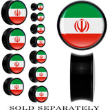 Iran Flag Black Acrylic Saddle Plug