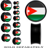 Jordan Flag Black Acrylic Saddle Plug