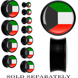 Kuwait Flag Black Acrylic Saddle Plug