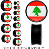 Lebanon Flag Black Acrylic Saddle Plug