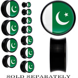 Pakistan Flag Black Acrylic Saddle Plug